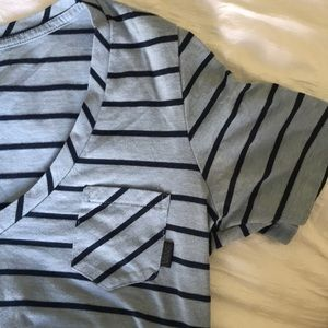 Vans striped tee, small, blue